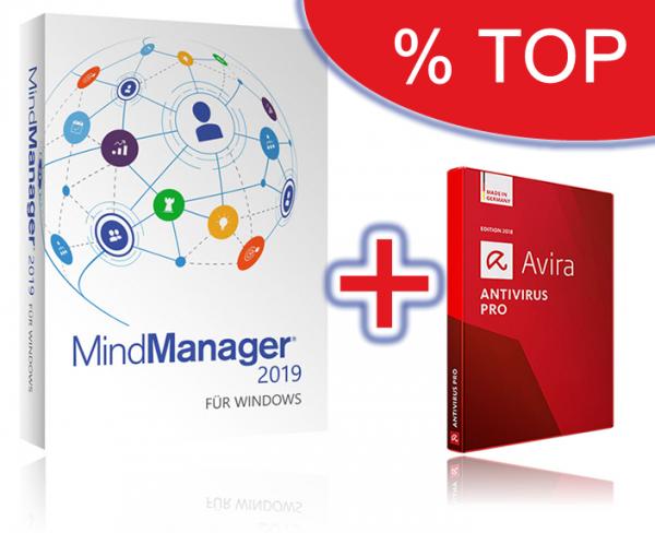 Mindjet MindManager 2019/11 + Avira Antivirus Pro (Bereitstellungsgebühr)